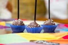 3 шипучки шоколадного торта Стоковые Изображения
