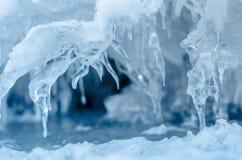 Шипы льда. Стоковая Фотография