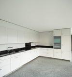 Широкая квартира, современная кухня Стоковые Фотографии RF