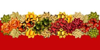Широкая лента сделанная абстрактных форм полных fruity текстур Стоковые Фотографии RF
