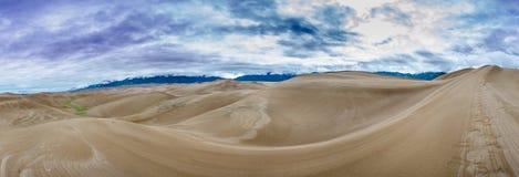 Широкая долина панорамы песчанных дюн Стоковое фото RF