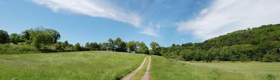 широкая сельской местности открытая Стоковые Фото