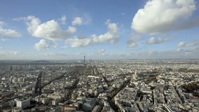 Широкая устанавливая съемка города Парижа daytime акции видеоматериалы