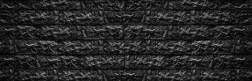 Широкая черная текстура кирпичной стены - камень преграждает предпосылку masonry стоковые фотографии rf