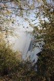Широкий ландшафт предпосылки взгляда Victoria Falls, Livingstone, Замбии Стоковое Фото