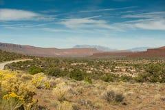 Широкий ландшафт пустыни Юты Стоковая Фотография