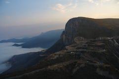 Широкий взгляд дороги Serra da Leba увиденной от Lubango, Huila стоковое изображение