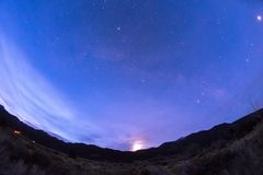Широкий взгляд звезд над Колорадо стоковые изображения rf