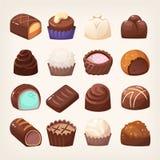 Широкий выбор помадок шоколада бесплатная иллюстрация