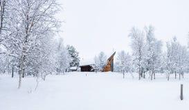 Широкий панорамный взгляд снежного ландшафта в Beitostolen, Норвегии Стоковые Фото