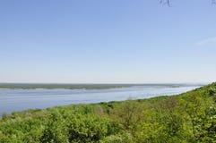Широкое река в Украине Стоковая Фотография