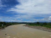Широкое река Стоковые Изображения