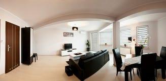 Панорама комнаты квартиры Стоковые Изображения