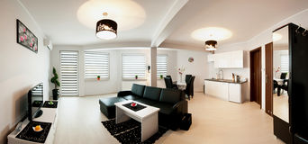 Самомоднейшая панорама комнаты Стоковое Фото