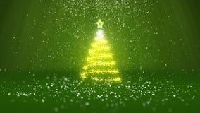 Широкоформатная съемка темы зимы для предпосылки рождества или Нового Года с космосом экземпляра Дерево Xmas от зарева сияющего бесплатная иллюстрация