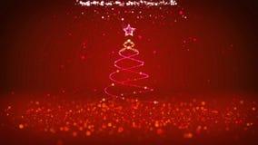 Широкоформатная съемка темы зимы для предпосылки рождества или Нового Года с космосом экземпляра Дерево Xmas от частиц в среднем иллюстрация вектора
