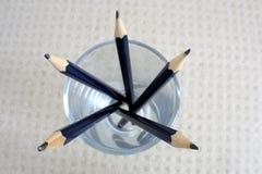 Широкоформатный взгляд карандашей в стекле Стоковое Изображение