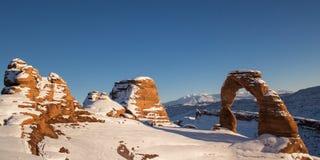 Широкоформатный чувствительного свода в зиме Стоковое Изображение RF