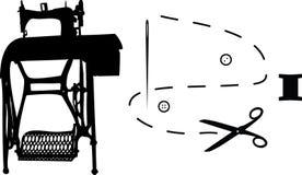 шить вспомогательного оборудования Стоковое Фото
