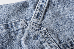 Шить голубых джинсов Стоковое Изображение