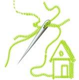шить иглы яркой дома огромный Стоковая Фотография