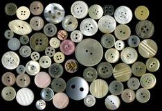шить изолированный кнопками Стоковая Фотография