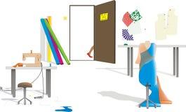 шить комнаты иллюстрация штока