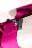 шить машины ткани розовый Стоковое Изображение