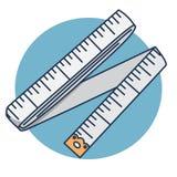 Шить сантиметр поставок иллюстрации мультфильма ленты шить иллюстрация вектора