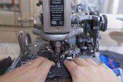 Шить частей портняжничанной куртки Стоковые Изображения RF