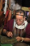 шить человека руки кожаный Стоковые Изображения RF