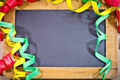 Шифер девственницы с украшением стоковое фото rf