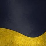 Шифер или темная предпосылка сини военно-морского флота с дизайном отделки золота Стоковые Изображения