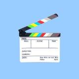 Шифер камеры на голубой предпосылке Стоковая Фотография