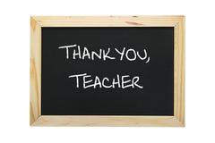 Шифер с признательным сообщением к учителю Стоковая Фотография RF