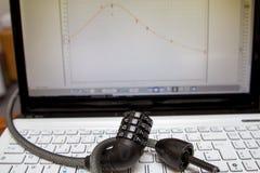 Шифровать анти--похищение компьютера, компьютер обеспеченный Стоковое фото RF