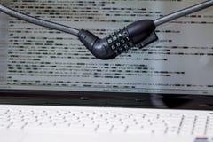Шифровать анти--похищение компьютера, компьютер обеспеченный Стоковые Фотографии RF