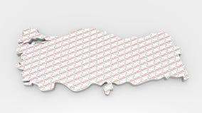 Шильдик карты Турции Да текстура штемпеля Стоковые Изображения RF