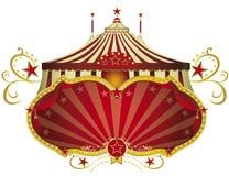 Шильдик красного цвета цирка бесплатная иллюстрация