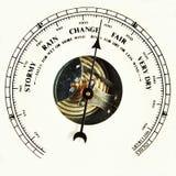 шкала изменения барометра Стоковая Фотография RF