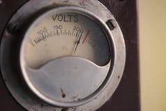 Шкала индикатора винтажного электропитания стоковая фотография rf