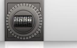 шкала кода металла 3d безопасная иллюстрация вектора