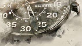Шкала наручных часов стоковое изображение rf