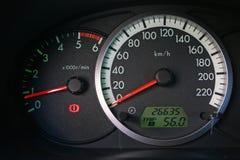 шкалы автомобиля Стоковые Изображения