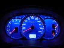 шкалы автомобиля Стоковое Изображение