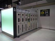 Шкафчики багажа авиапорта Terminal2 Narita Стоковые Изображения