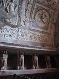 Шкафчики в доме ванны на Помпеи Стоковое Изображение
