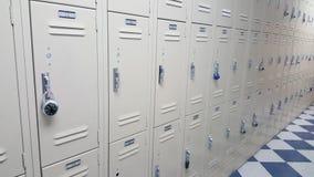 Шкафчики значка студента коллежа/средней школы Стоковое Изображение RF