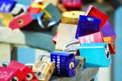 Шкафчики на мосте Стоковая Фотография RF