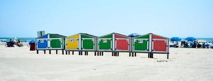 Шкафчики пляжа в Wildwood NJ Стоковое Изображение